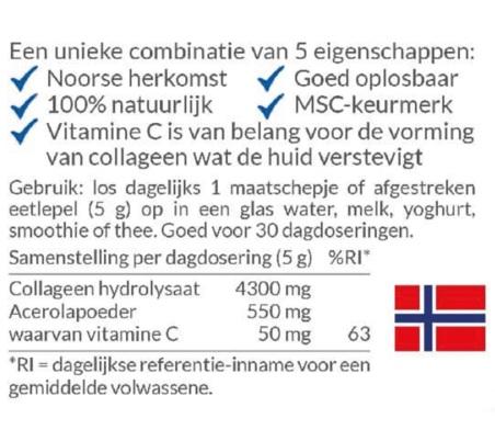 review puur arctisch collageen artic blue ingredienten